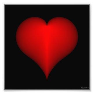 Impressão do coração impressão de foto