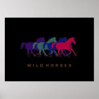 impressão do décor dos cavalos