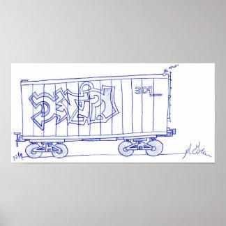 Impressão do desenho do carro de trem