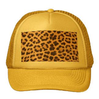 impressão do design da pele do leopardo boné