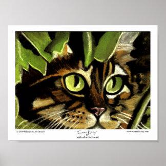 Impressão do gatinho de Camo