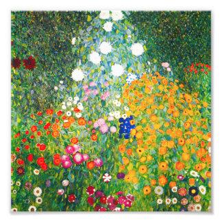 Impressão do jardim de Gustavo Klimt Fotografias