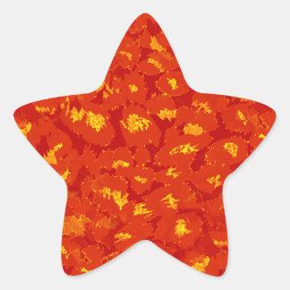Impressão do leopardo do outono adesito estrela