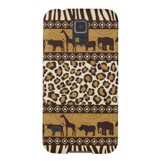 Impressão do leopardo e animais africanos capinha galaxy s5