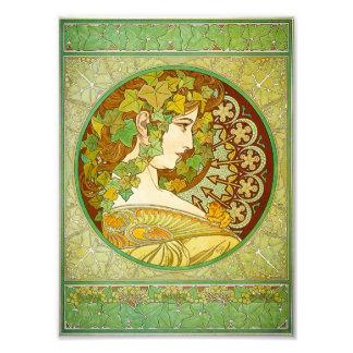 Impressão do louro de Alphonse Mucha Impressão De Foto
