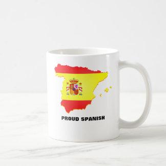 Impressão do mapa da bandeira da espanha na caneca