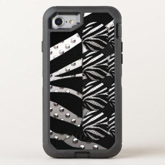Impressão do metal da zebra capa para iPhone 7 OtterBox defender