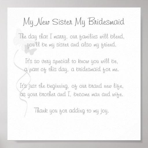 Impressão do poema da dama de honra
