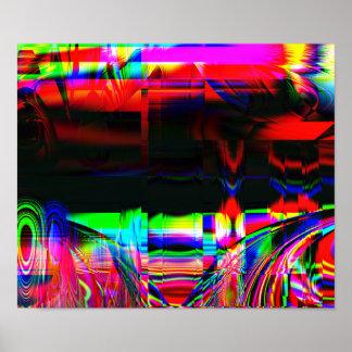 """Impressão do poster da arte abstracta do """"palco"""""""