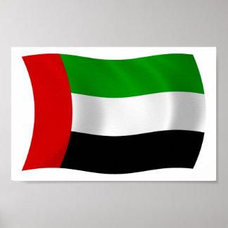 Impressão do poster da bandeira de United Arab Emi