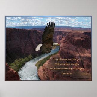 Impressão do poster da escritura de Eagle do 40:31