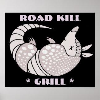 Impressão do poster da grade do matar de estrada