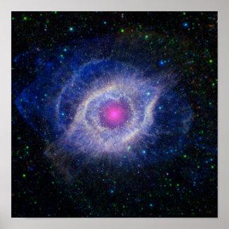 Impressão do poster da nebulosa | da hélice