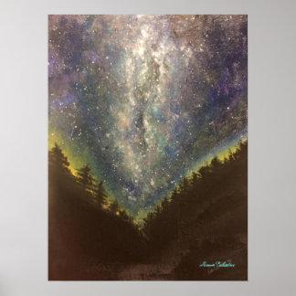 Impressão do poster da noite estrelado