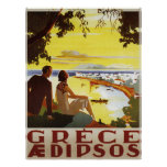 Impressão do poster da piscina do vintage