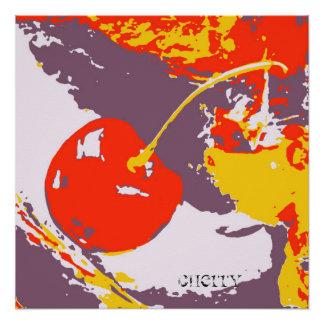 Impressão do poster das belas artes da cereja