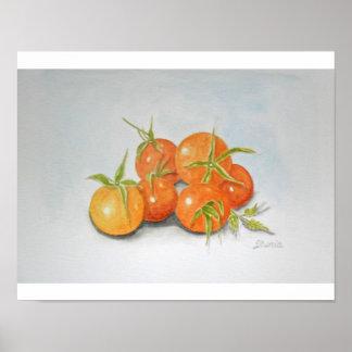 Impressão do poster das belas artes dos tomates