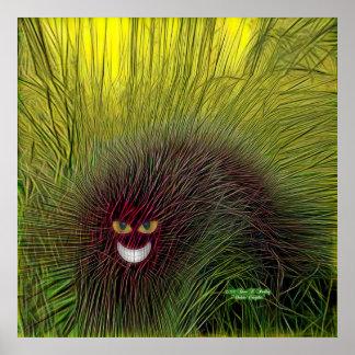 Impressão do poster de Cheshire Caterpillar