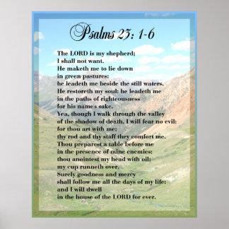 IMPRESSÃO do POSTER de Framable do salmo 23