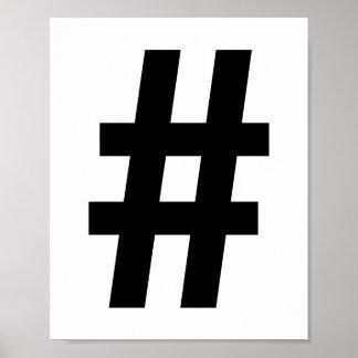 Impressão do poster de Hashtag