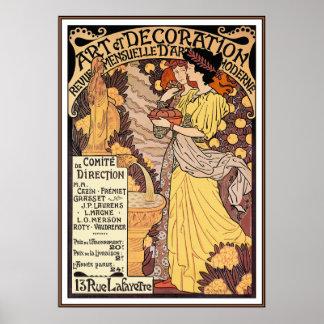 Impressão do poster de Nouveau da arte: Arte da de