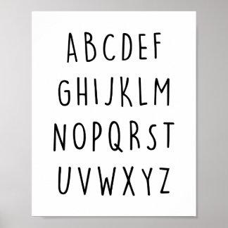 Impressão do poster do alfabeto
