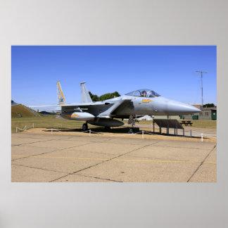 Impressão do poster do avião de combate do jato de