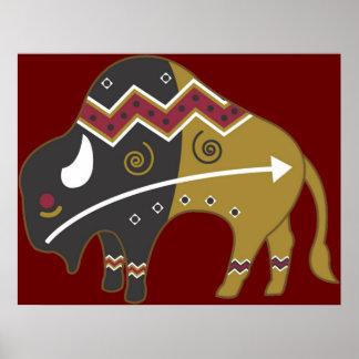 Impressão do poster do búfalo do sudoeste de Tirba