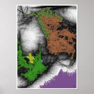 Impressão do poster do Expressionism abstrato de