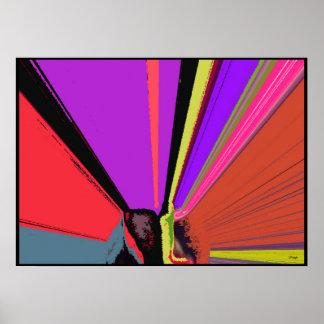 Impressão do poster do Expressionism abstrato do