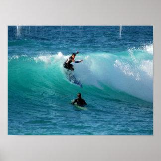 Impressão do poster do fundo do surf