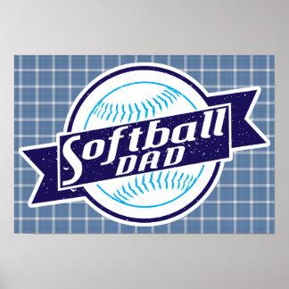 Impressão do poster do pai do softball