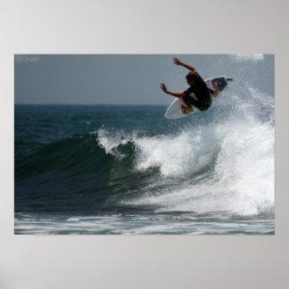 Impressão do poster do relatório do surf