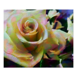 Impressão do poster do Semi-Brilho do rosa do