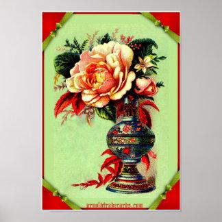 Impressão do poster do Victorian da coleção de