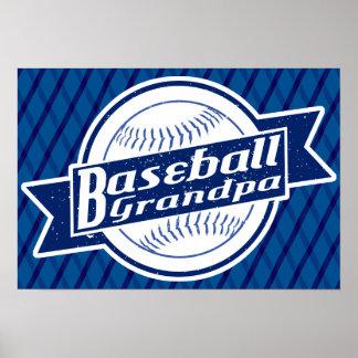 Impressão do poster do vovô do basebol