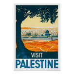 Impressão do poster vintage de Palestina da visita