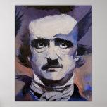 Impressão do retrato de Edgar Allan Poe