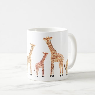 Impressão do safari do girafa caneca de café
