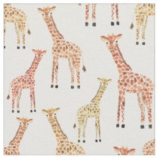 Impressão do safari do girafa tecido