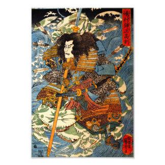 Impressão do samurai de Kuniyoshi Impressão De Foto