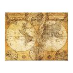 Impressão do século XVII das canvas do mapa do con Impressão De Canvas Esticada
