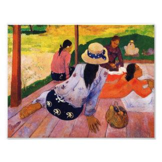 Impressão do Siesta de Gauguin Foto