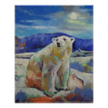 Impressão do urso polar