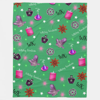 Impressão do verde do #ModernWitchLife do WK Cobertor De Lã