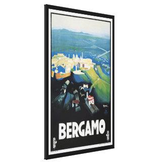Impressão do viagem da paisagem de Bergamo Italia