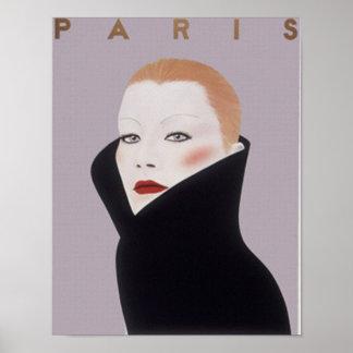 Impressão do vintage da forma de Paris France