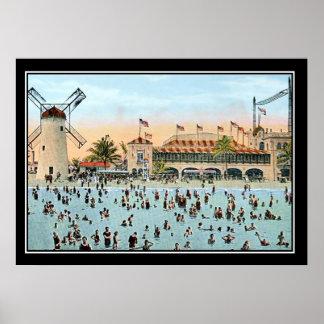 Impressão do vintage de Miami Beach