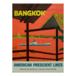 Impressão do vintage do vintage de Banguecoque