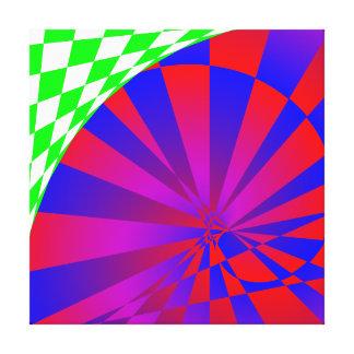 Impressão dobrado das canvas das dimensões impressão de canvas envolvidas